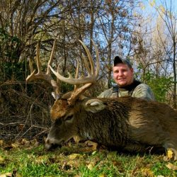 Zack Dile from Pennsylvania with his early November wall hanger